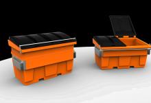 Mini skip bins 1.5 - 2 cube plastic-plast-ax