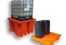 IBC Bund-Spill pallets, Plast-ax