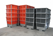 1000 +1150 Galvanised Steel Framed Plastic Liner Hide Bins