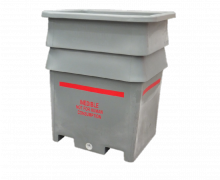 1300L Plast-ax Plastic Offal and Hide Bin for Food Processing Inedible and Edible