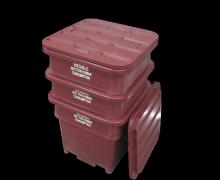 Plast-ax Flush Edge Twin Skin Rebated Stackable Offal Bin Lid