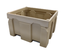 Plast-ax 1200 x 1000 - 750L stackable box pallet bin