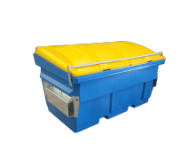 mid height 1.5 cube plastic front load bin