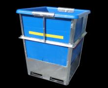 1150L bulk food grade bin - steel framed Plastic bin