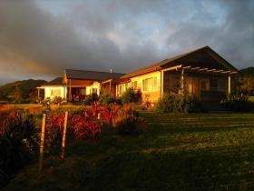 The Mamaku Room and Lodge at dawn