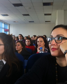Public lecture by professor Hannes Tretter on University of Prishtina