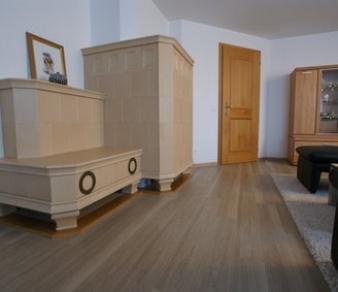 Vinylbelag Eichedesign in Wohnzimmer