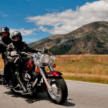 Harley Davidson Chauffeured Passenger Tour New Zealand