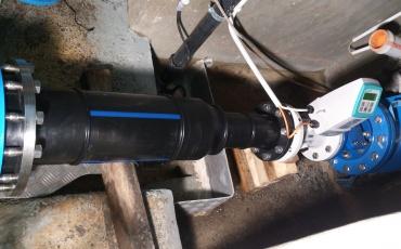 Anschluss an Reservoir mit Einbau Wassermesser