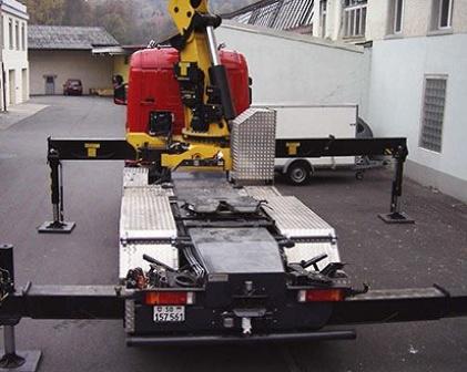 Walkers Team Kranlastwagen