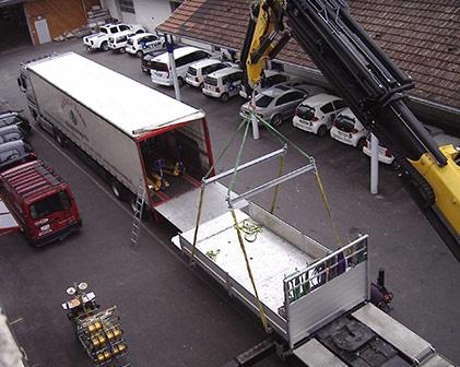 Kranlastwagen