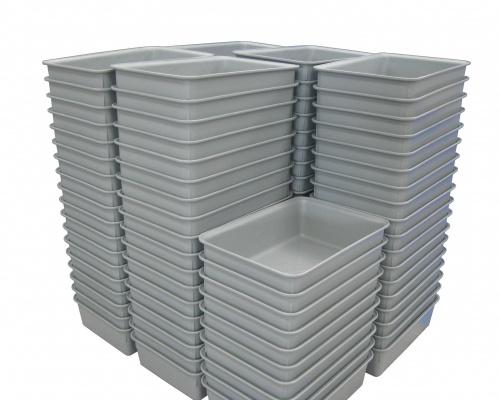 Bulk freezer processing totes