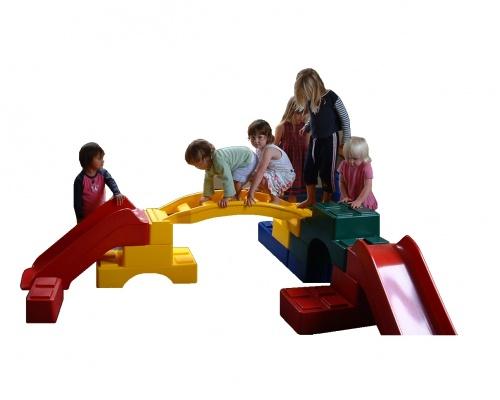 Play-stax - arch ladder blocks slides tunnels