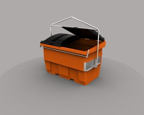 Side load bin & lids - plastic - PLAST-AX