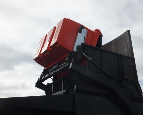 Plast-ax 2 cube Front load bin tipping