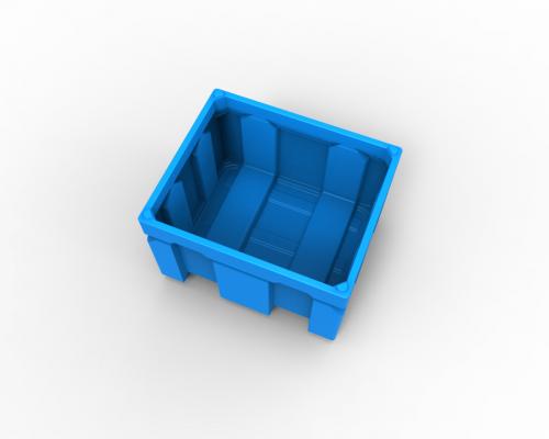 Plastic box pallet bin - Plast-ax