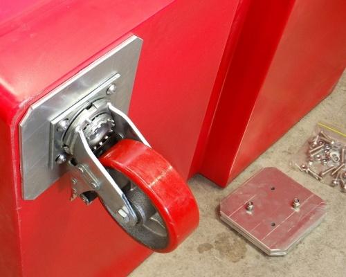 FEL Front load bin - castor wheel set - Plast-ax
