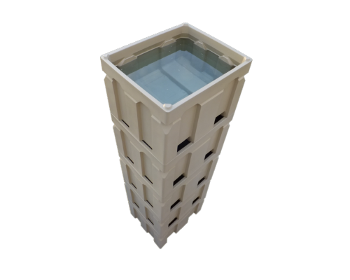 Plast-ax 1200 x 1000 box pallet bin - nally macro dolav compatible