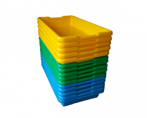 13L Plastic Tray Nested Colours