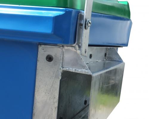 Heavy Duty Plastic 1.5m3 front load bin - Plast-ax