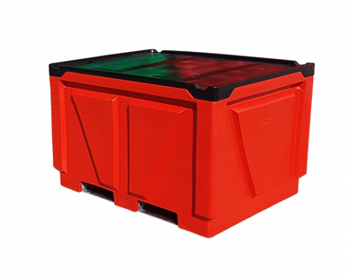 Rotate Empty Twin Wall Insulated Transport Pallet Bin