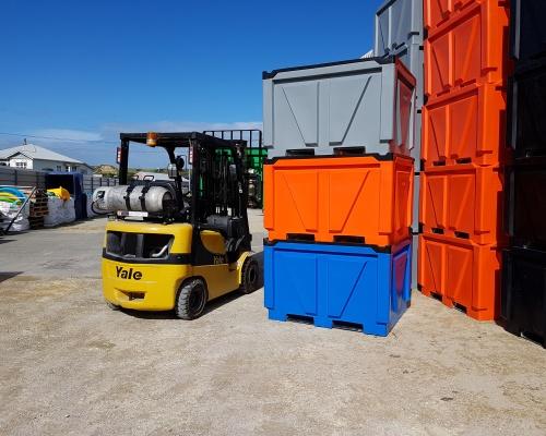 stacking food grade meat processing box pallet bin