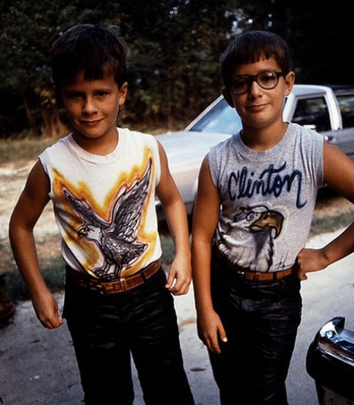 Two boys with egale t-shirts