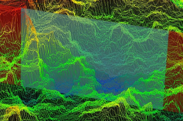 Implant Material 2 SLA Surface. Image slopes. Laser digital microscopy (LEXT).