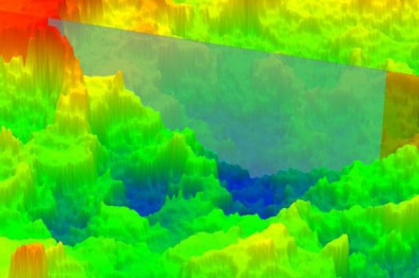 Implant Material 2 SLA Surface. Reverse reflectance. Laser digital microscopy (LEXT).