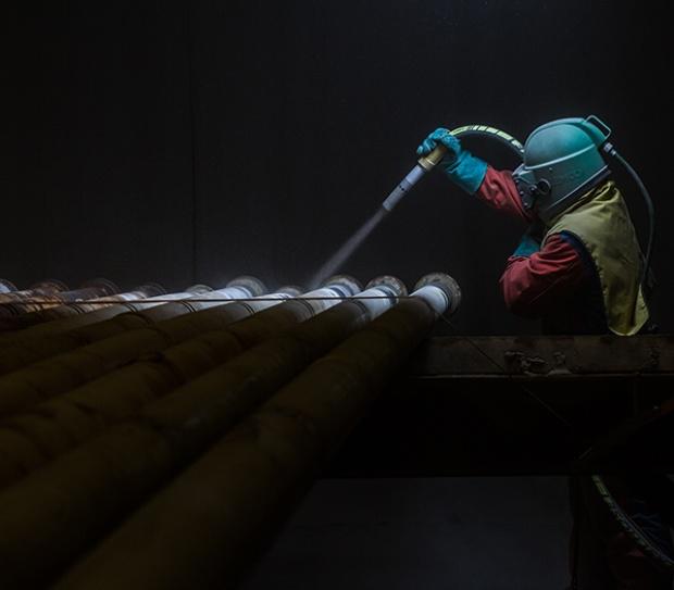 Overflatebehandling av stål