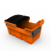 section view 1.5 cube plastic Front load rubbish bin