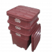 Plast-ax Flush Edge Twin Skin Rebated Stackable Offal Bin Lid