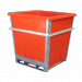 1000L Hide and Processing Steel Framed Bin with Plast-ax Replaceable Plastic Liner -  Orange