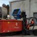 800L ForkLift Rotatable Offal Bin with Castors