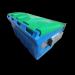 plast-ax 1.5 m3 hook bin-plastic