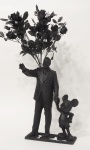 Walt and Mickey; PLA plastic, resin, artificial flowers and epoxy ,  20 x 50 x 8 cm (sold)
