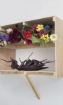 Death Don't Have No Mercy, PLA, Plywood, and artificial flowers, 1200 x 90 x 500 mm