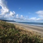 Looking south down Waihi Beach