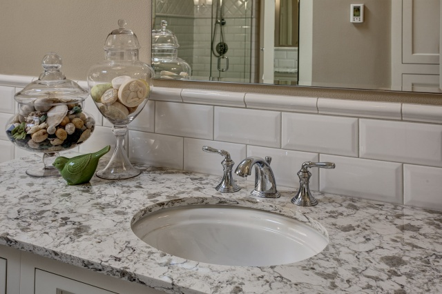 Classic White Master Bathroom Remodel