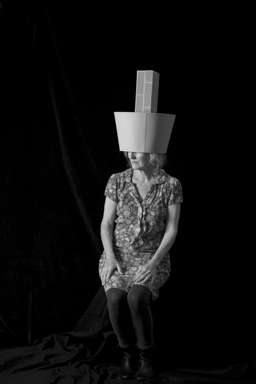 Brick and Lampshade Hat