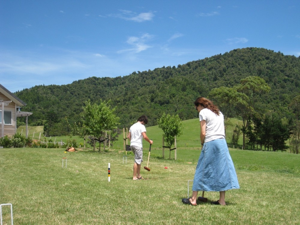 Croquet at Kaimai Country Lodge