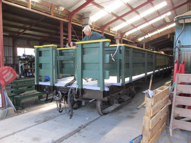 Carriage back in shed for remainder of refurbishment