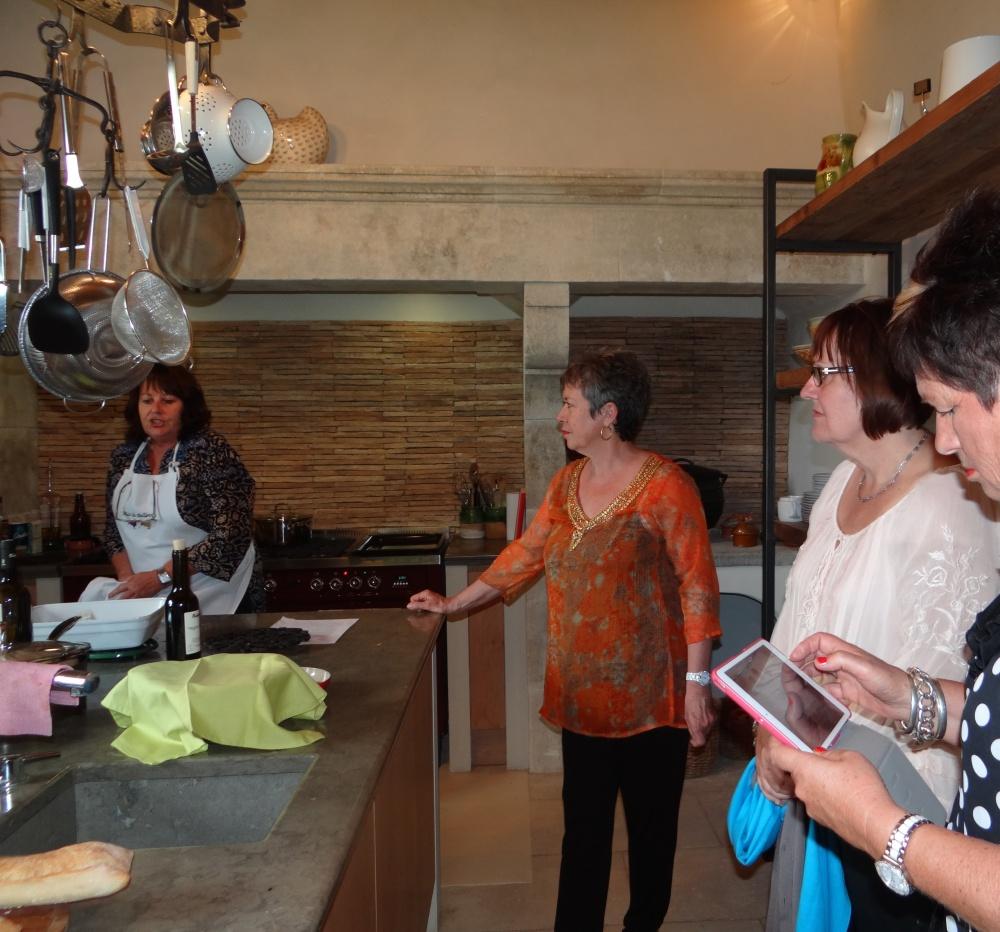 Joanne's cooking demo Mas Bellevue