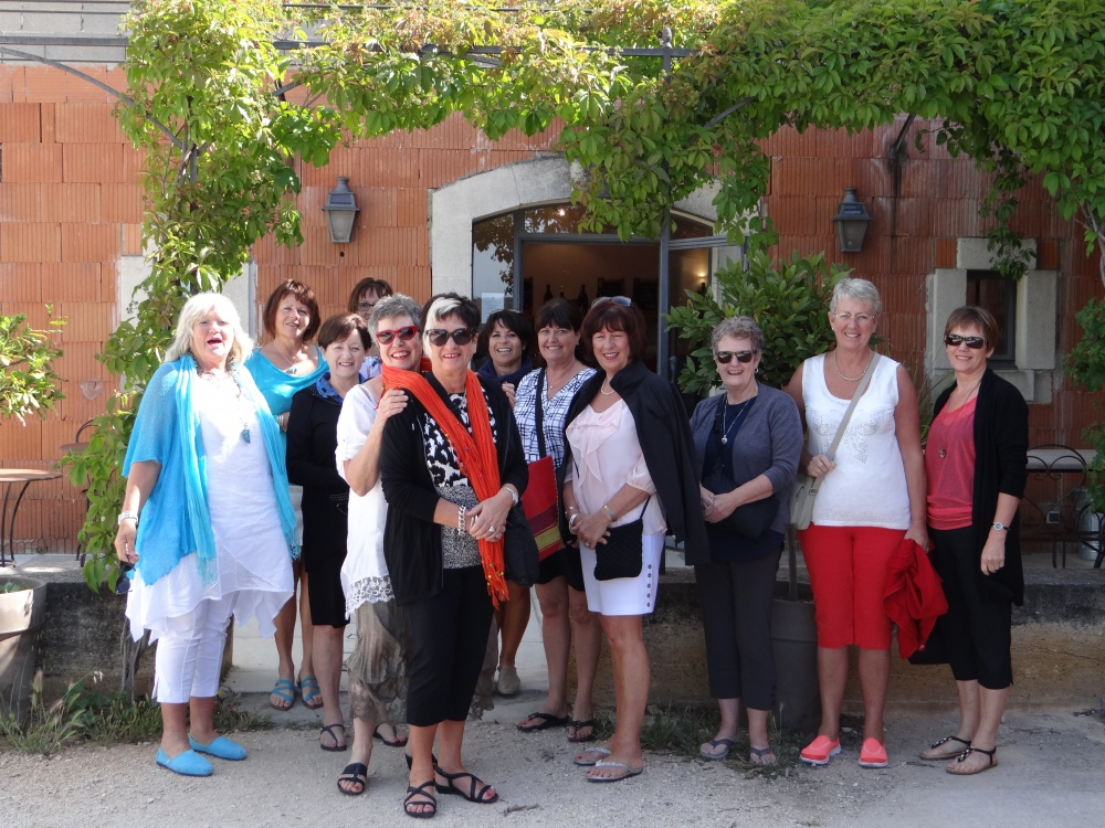 Tour Group after wine tasting at local Caveau
