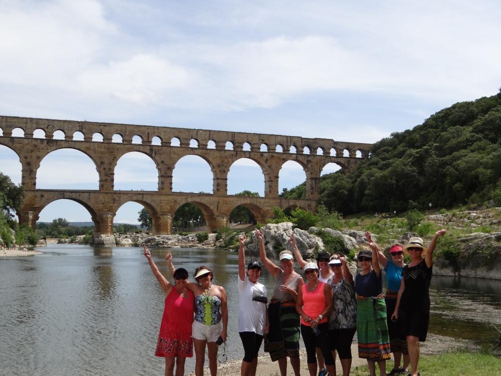The girls conquered the Gardon River