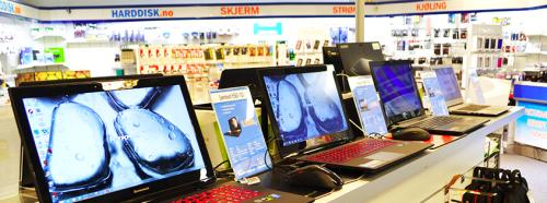 På Laksevåg har vi et stort utvalg datamaskiner og tilbehør i vår databutikk