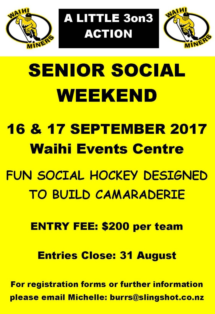 Miners Senior Social 3 on 3 2017