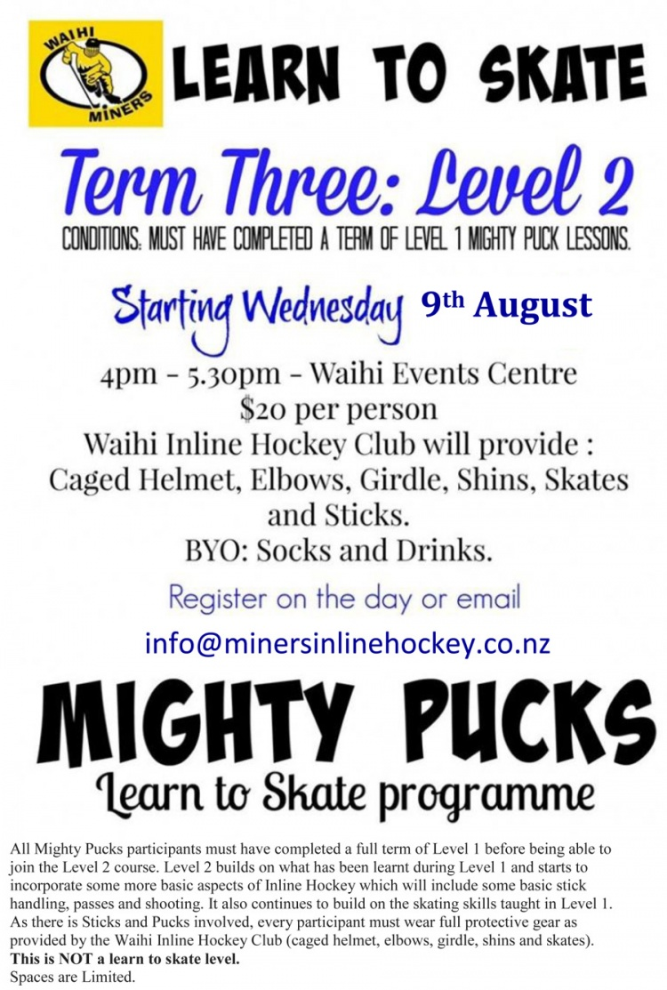 Level 2 Mighty Pucks Advert