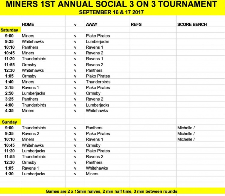 3 on 3 Social Tournament